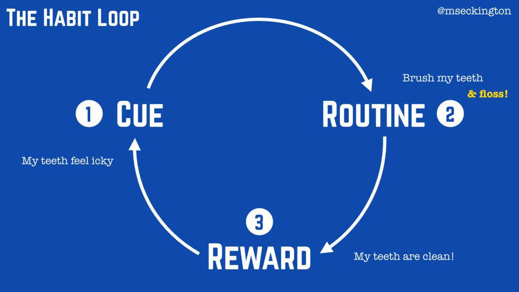 Cue Routine Reward 1 2 3 The Habit Loop My teet...