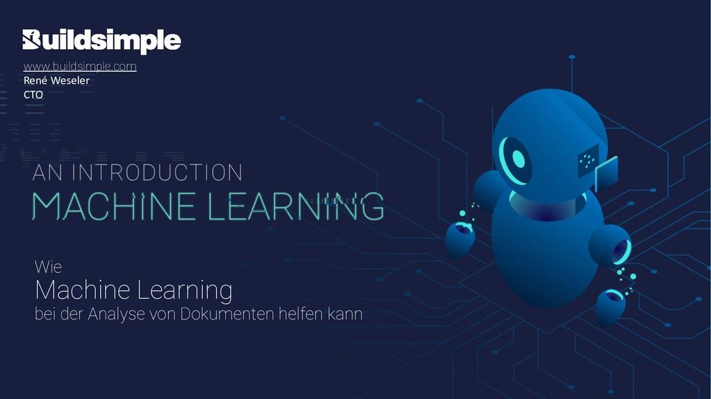 Wie Machine Learning bei der Analyse von Dokume...