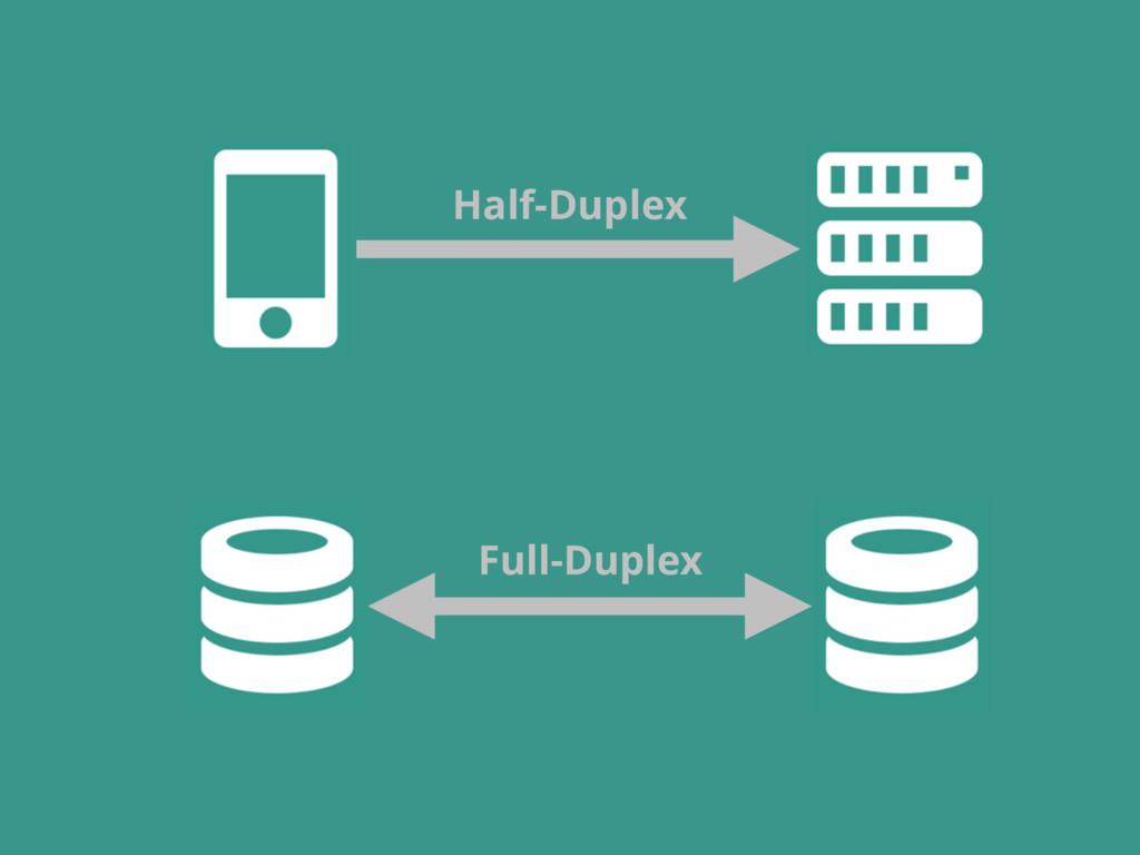 Half-Duplex Full-Duplex