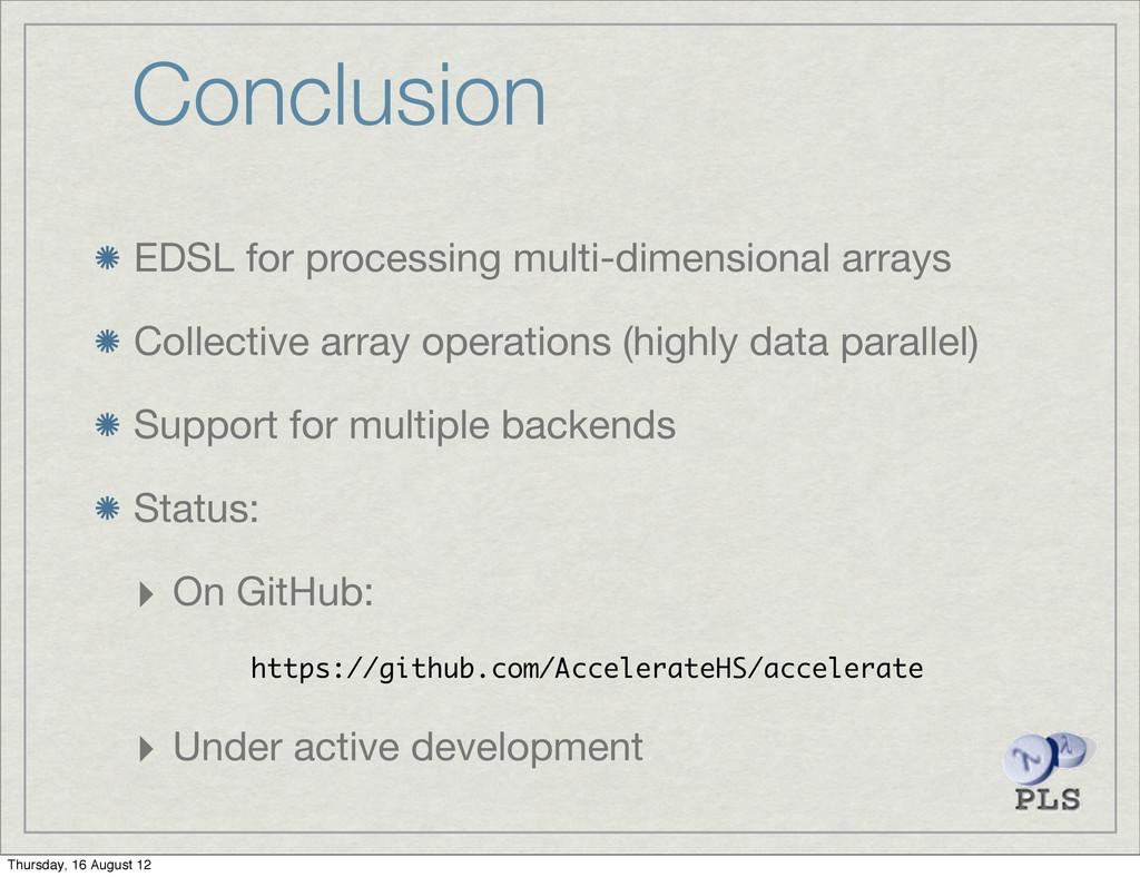 Conclusion EDSL for processing multi-dimensiona...