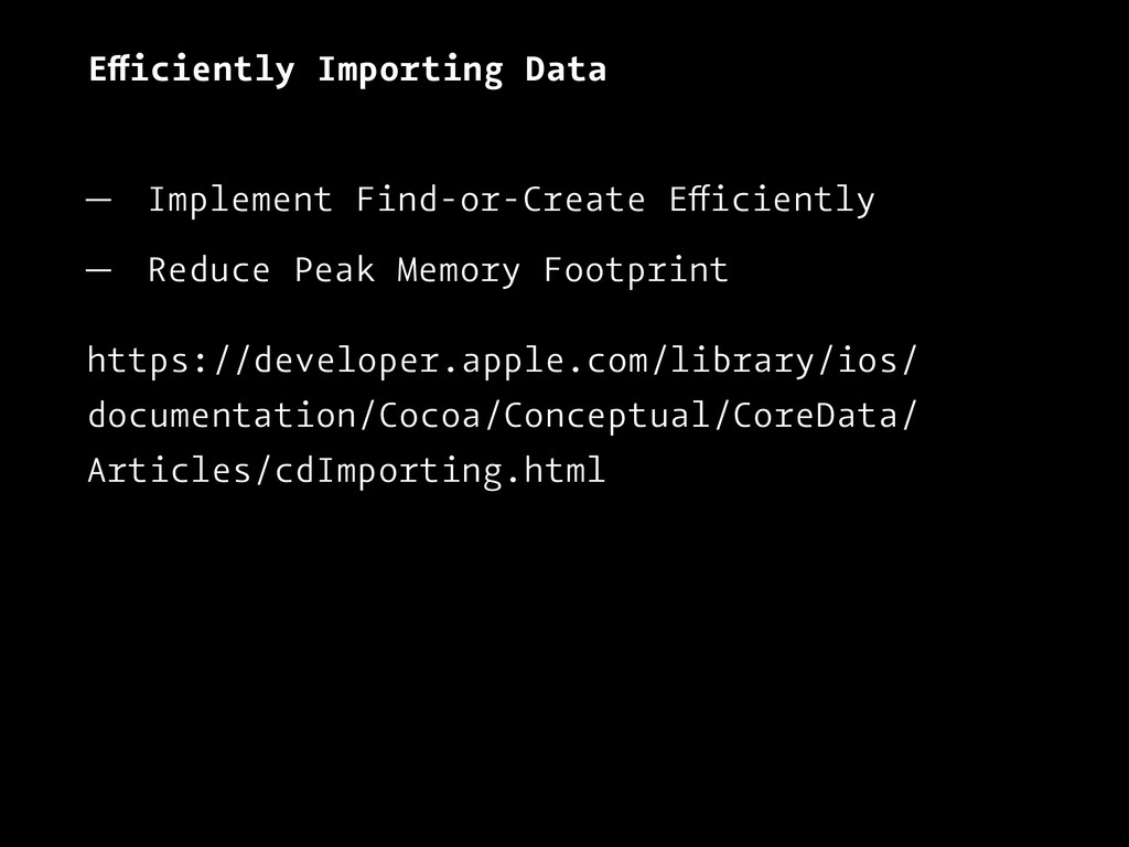 Efficiently Importing Data — Implement Find-or-...