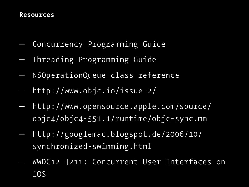 Resources — Concurrency Programming Guide — Thr...