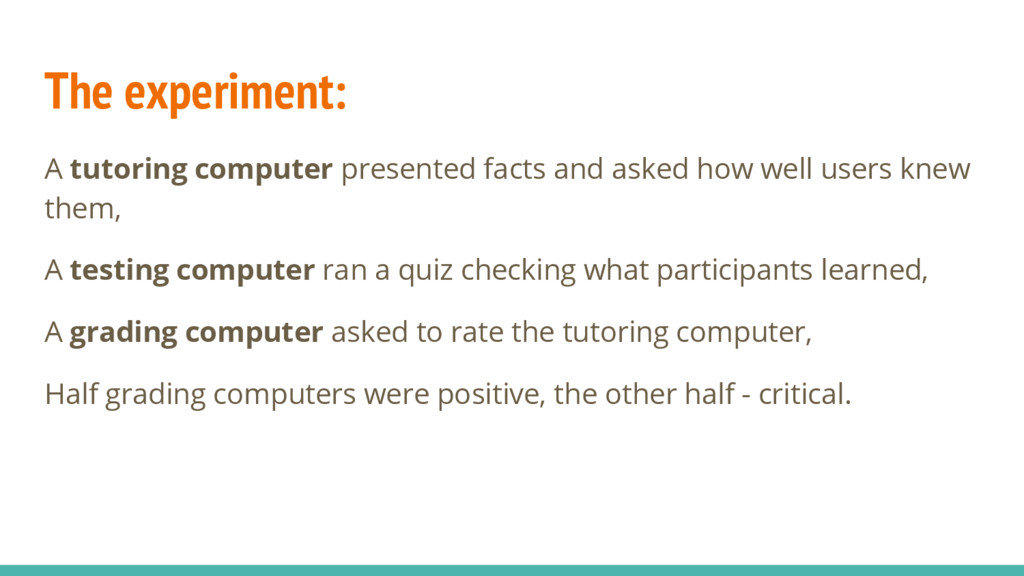 The experiment: A tutoring computer presented f...