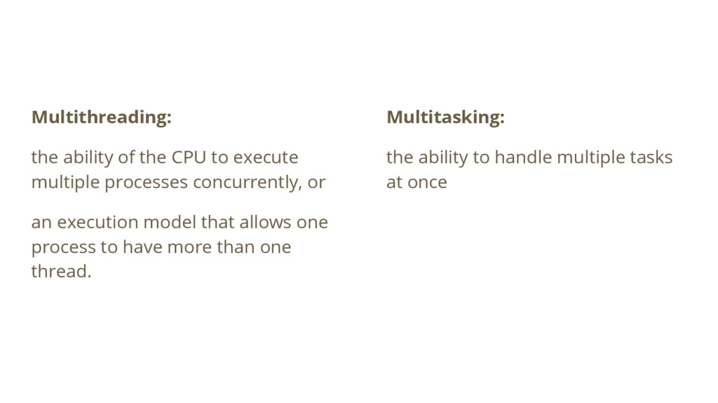 Multithreading: the ability of the CPU to execu...