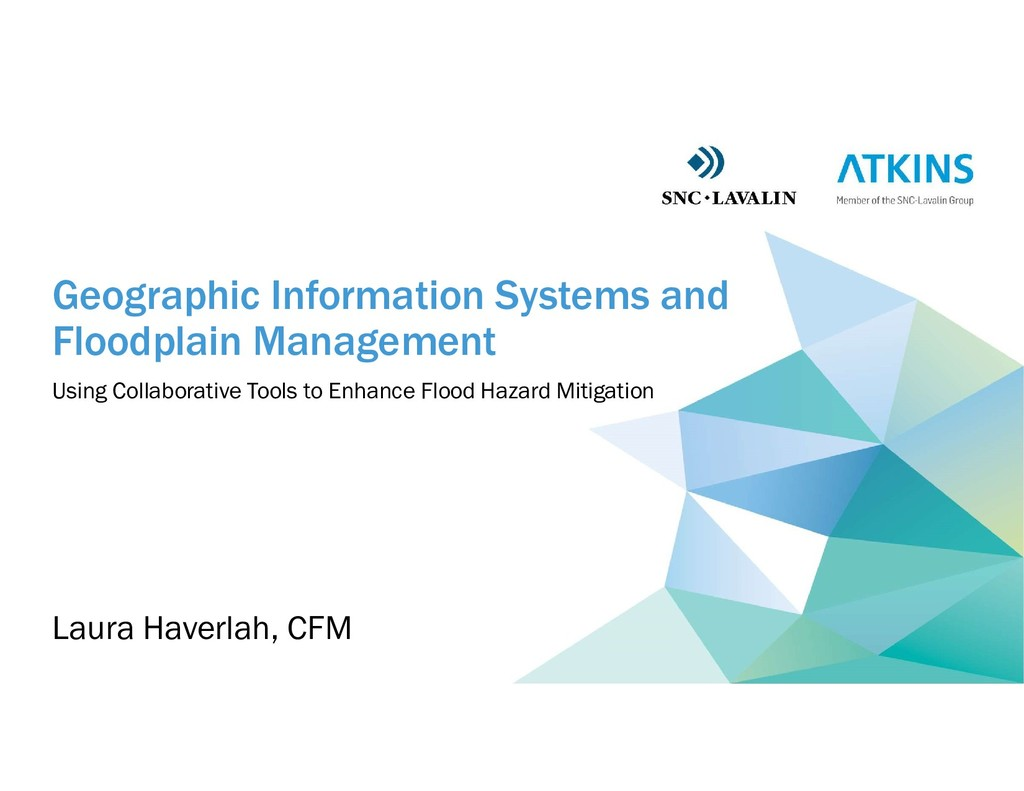 Geographic Information Systems and Floodplain M...