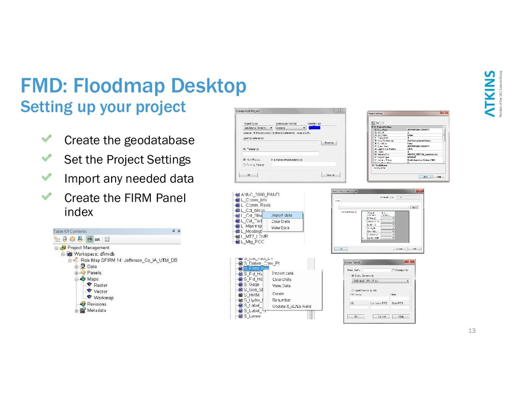 FMD: Floodmap Desktop Setting up your project 1...