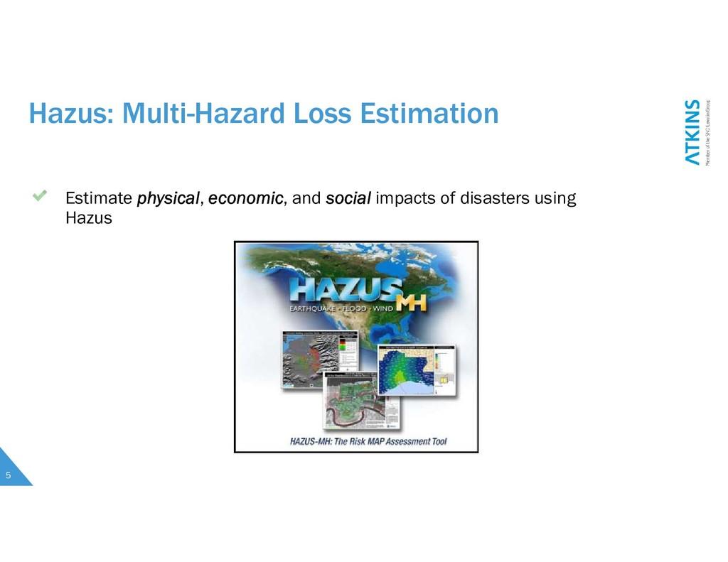 Hazus: Multi-Hazard Loss Estimation Estimate ph...