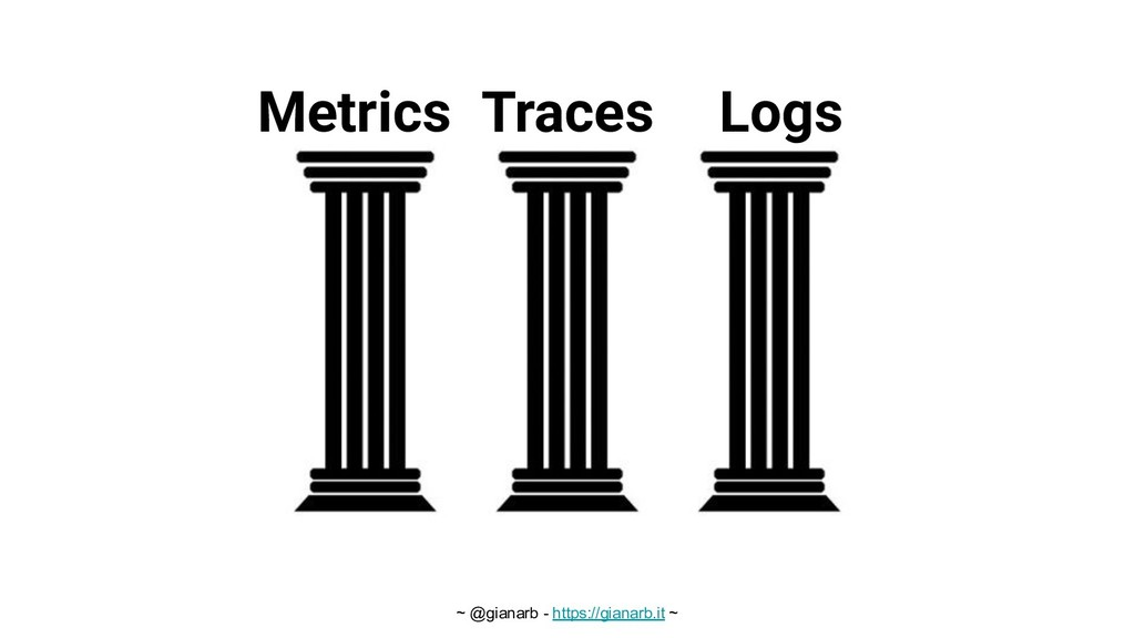 ~ @gianarb - https://gianarb.it ~ Metrics Trace...