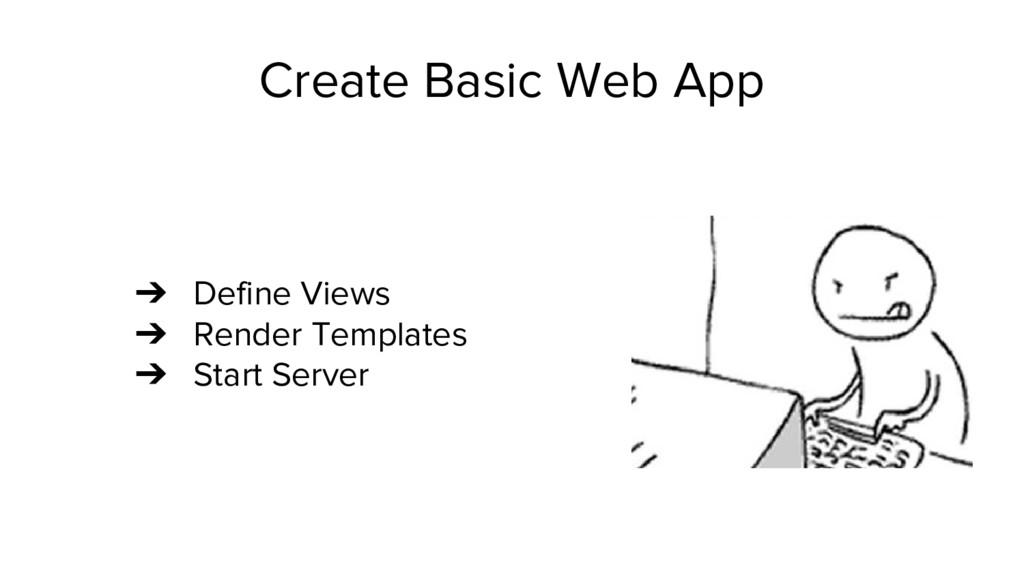 Create Basic Web App ➔ Define Views ➔ Render Te...