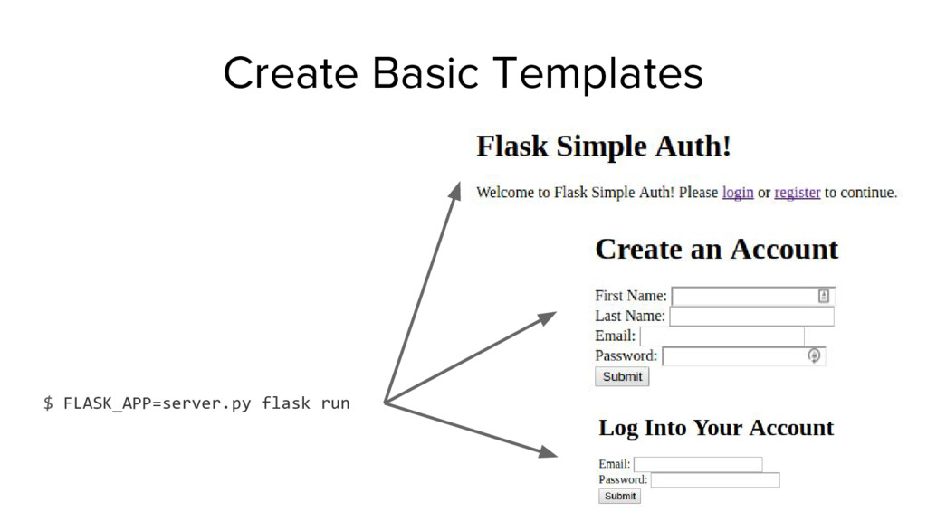 $ FLASK_APP=server.py flask run Create Basic Te...