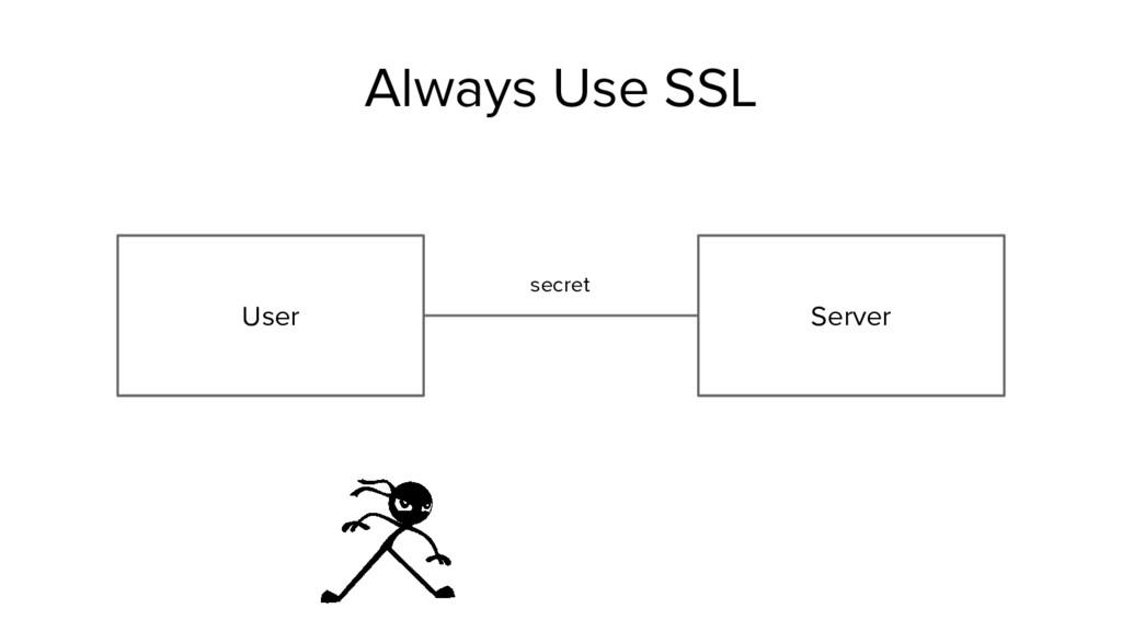 User Server secret Always Use SSL