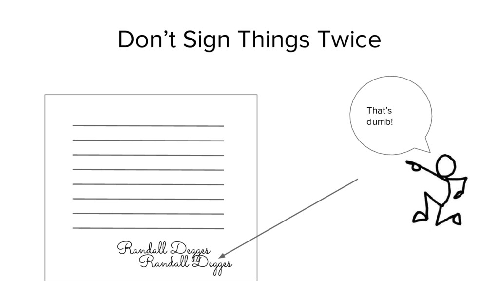 Don't Sign Things Twice Randall Degges That's d...