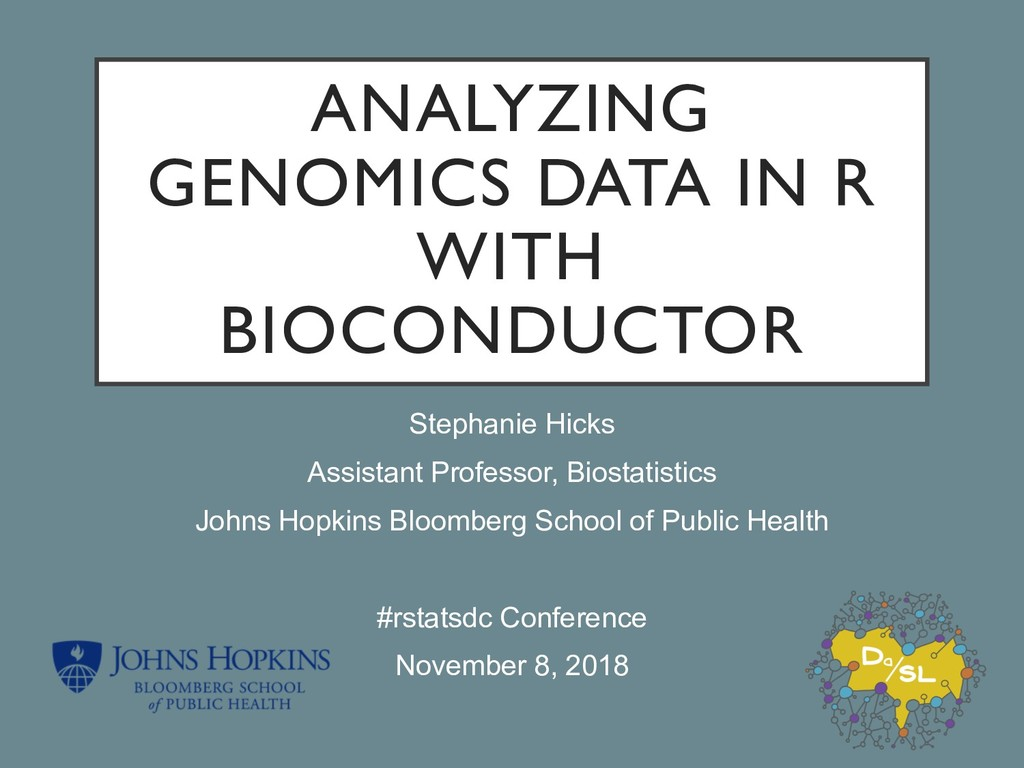 ANALYZING GENOMICS DATA IN R WITH BIOCONDUCTOR ...