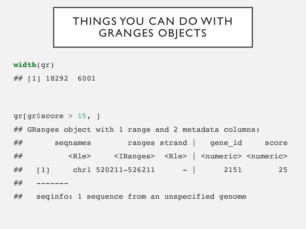 THINGS YOU CAN DO WITH GRANGES OBJECTS width(gr...