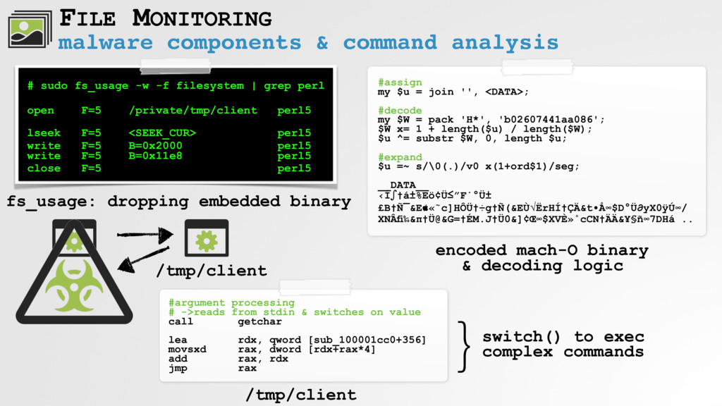 malware components & command analysis FILE MONI...