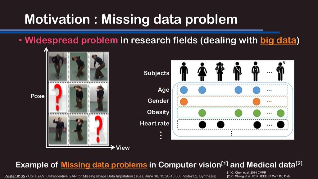 Motivation : Missing data problem • Widespread ...