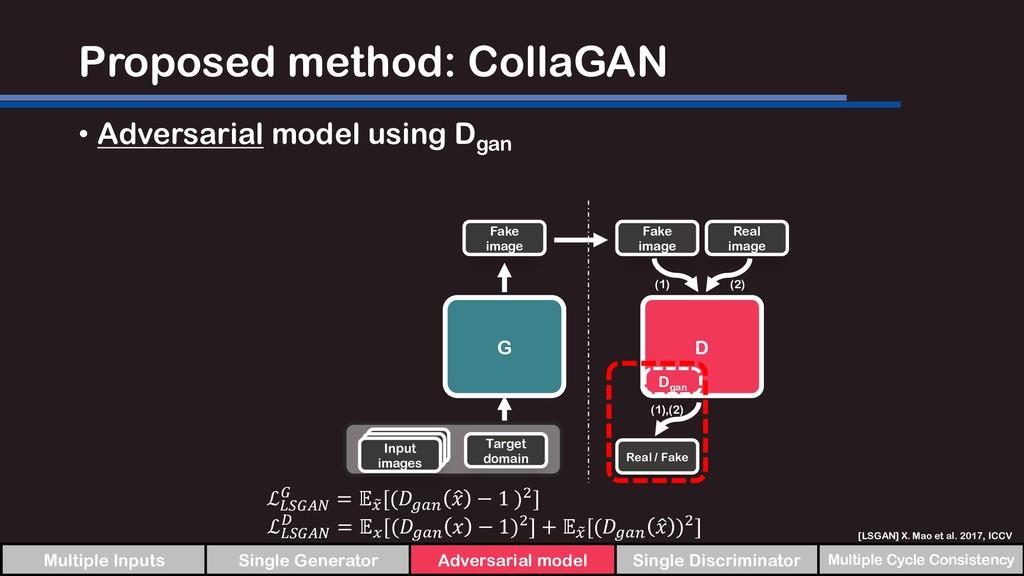 Proposed method: CollaGAN • Adversarial model u...