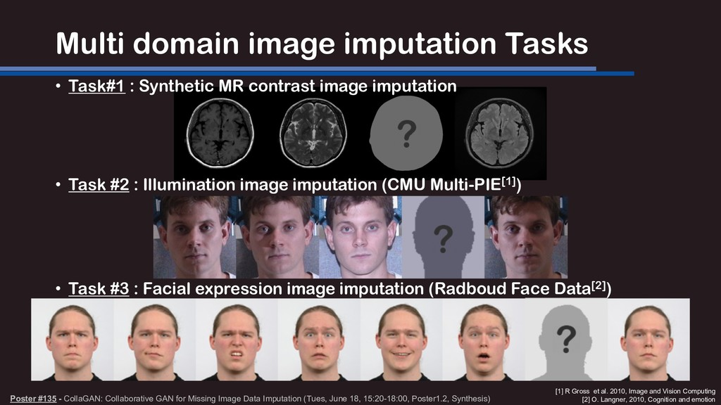 Multi domain image imputation Tasks • Task#1 : ...