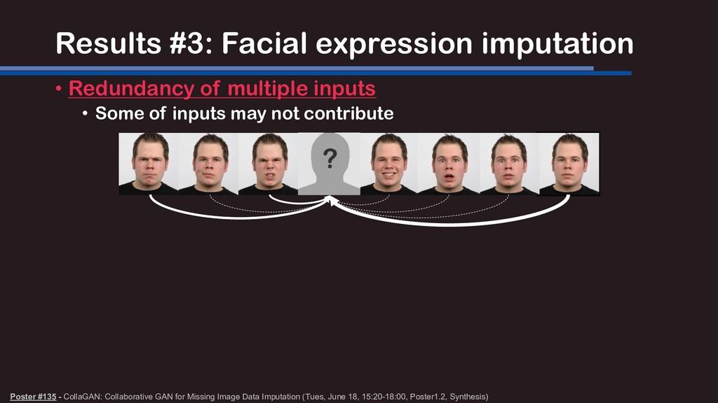 Results #3: Facial expression imputation • Redu...