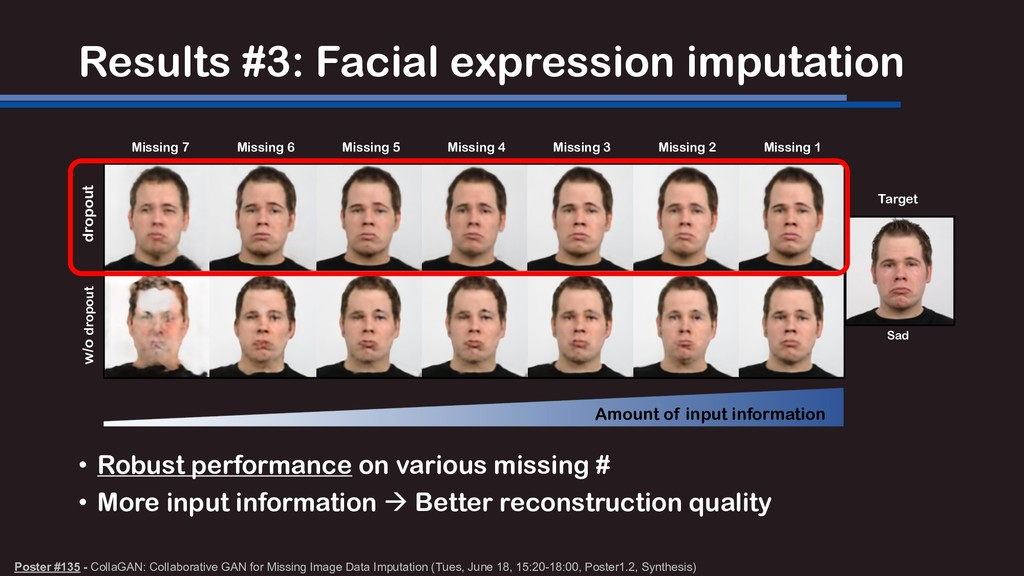 Results #3: Facial expression imputation Poster...