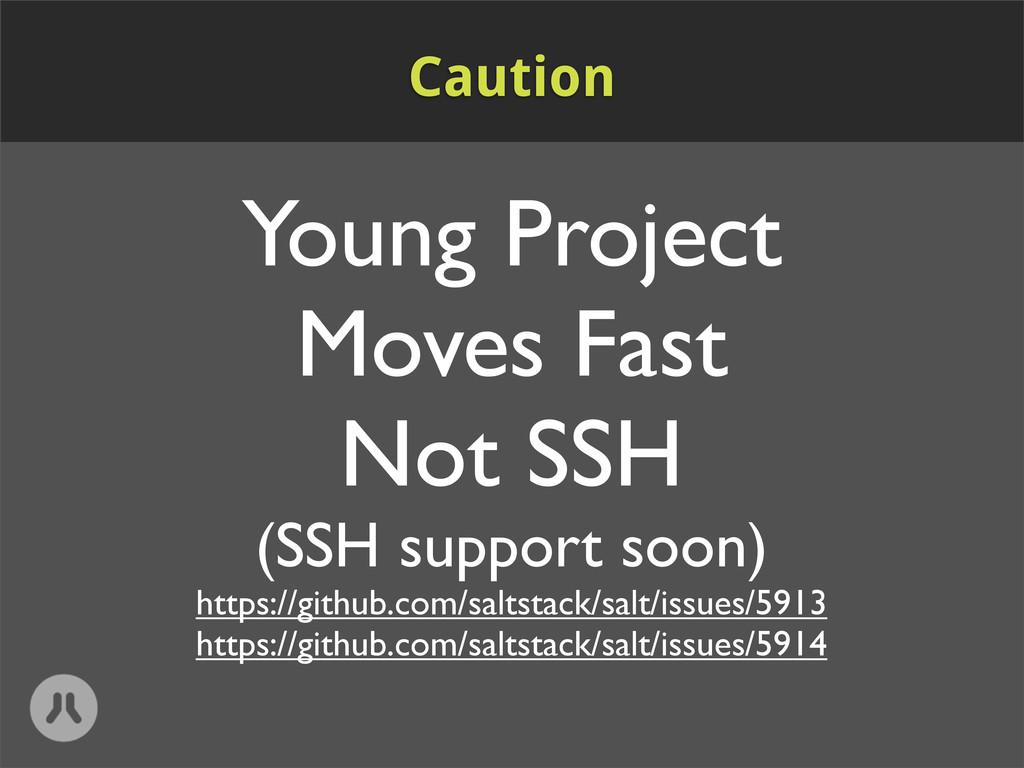 Young Project Moves Fast Not SSH (SSH support s...