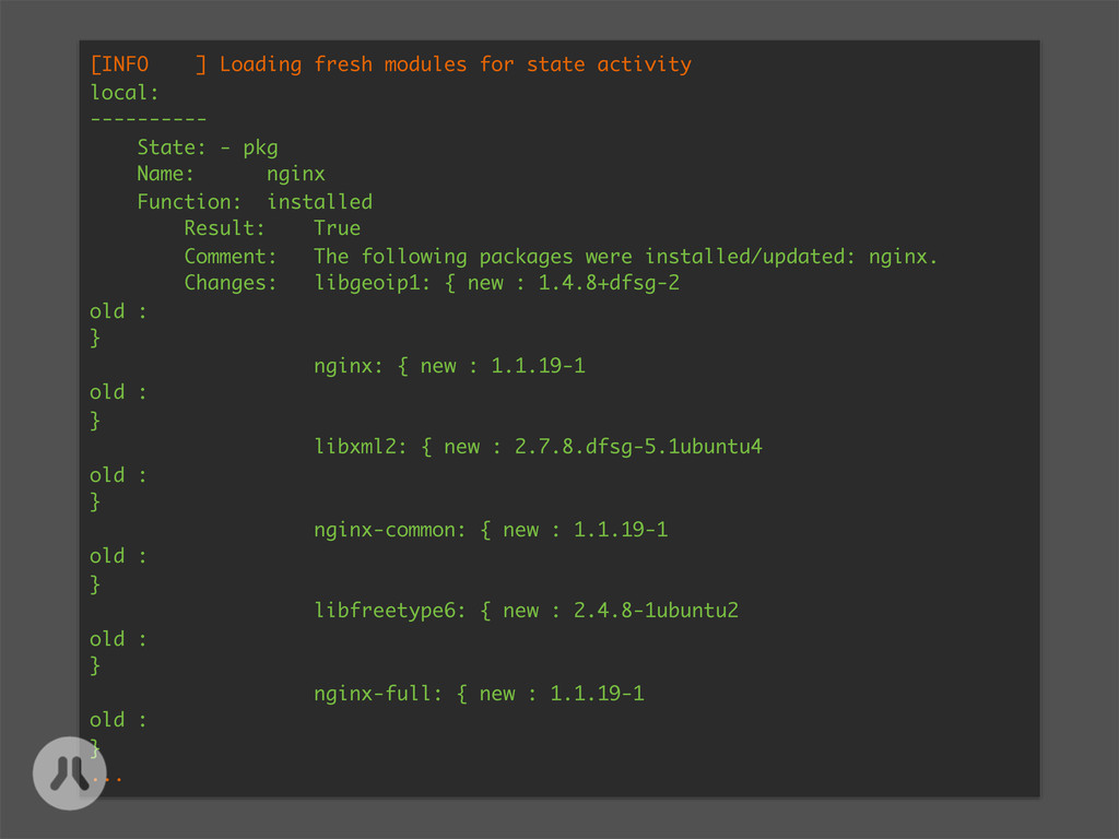 [INFO ] Loading fresh modules for state activit...