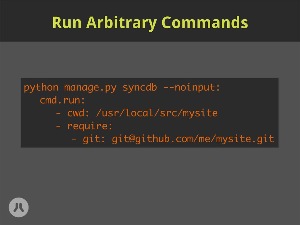 python manage.py syncdb --noinput: cmd.run: - c...