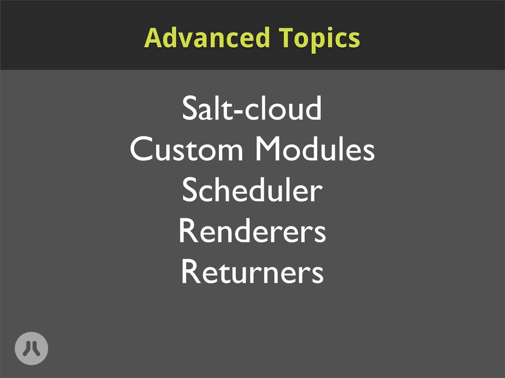 Salt-cloud Custom Modules Scheduler Renderers R...