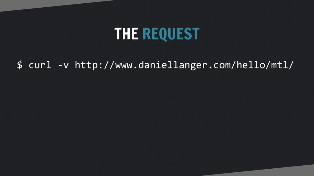 THE REQUEST $ curl -v http://www.daniellanger.c...