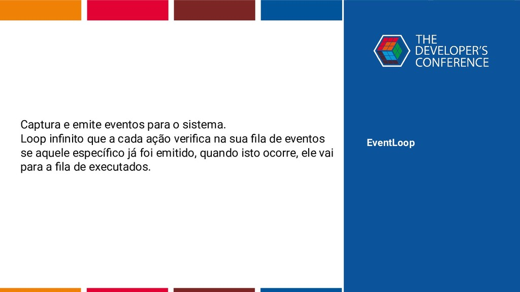 EventLoop Captura e emite eventos para o sistem...