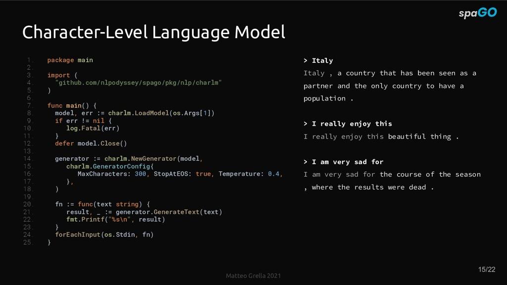 Matteo Grella 2021 Character-Level Language Mod...