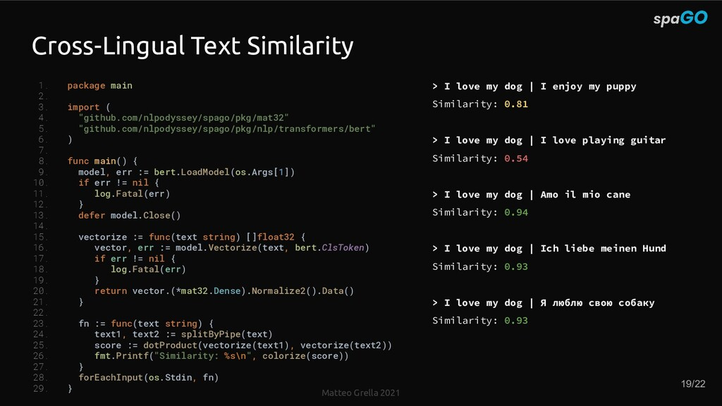 Matteo Grella 2021 Cross-Lingual Text Similarit...