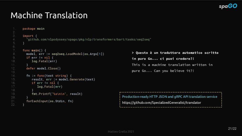 Matteo Grella 2021 Machine Translation 1. packa...