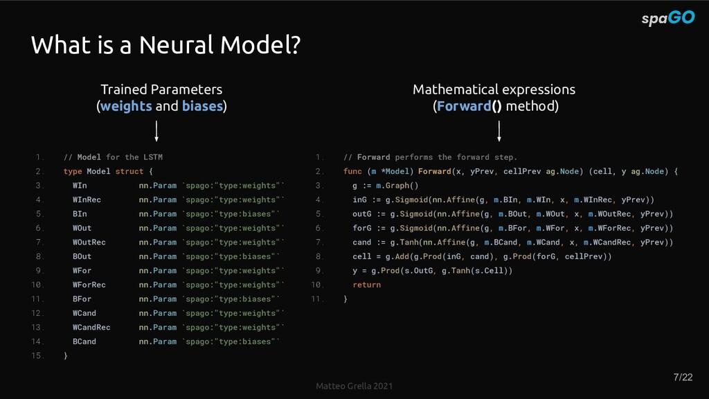 Matteo Grella 2021 What is a Neural Model? 1. /...