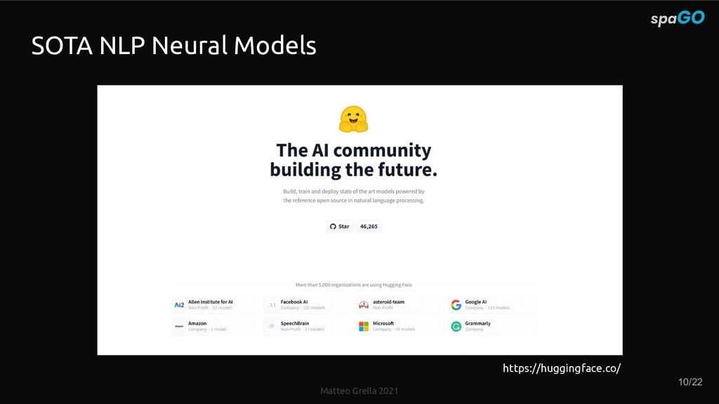 Matteo Grella 2021 SOTA NLP Neural Models https...