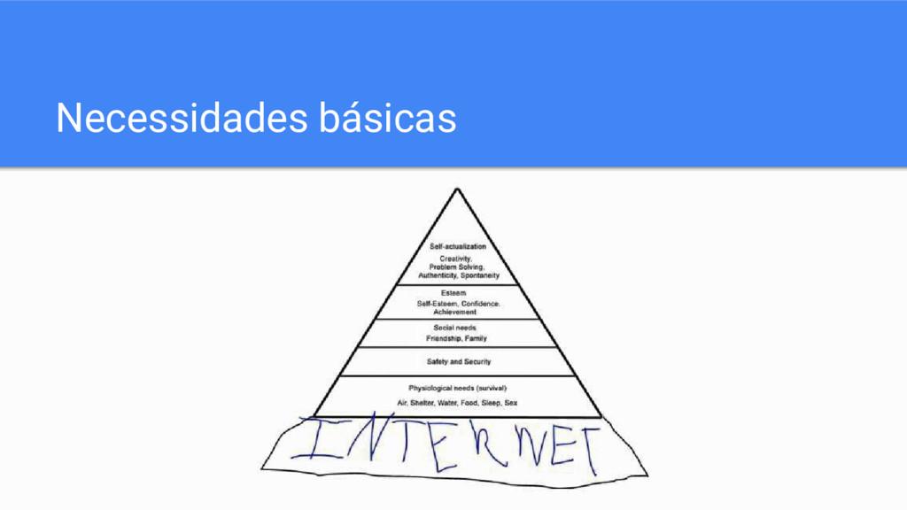 Necessidades básicas