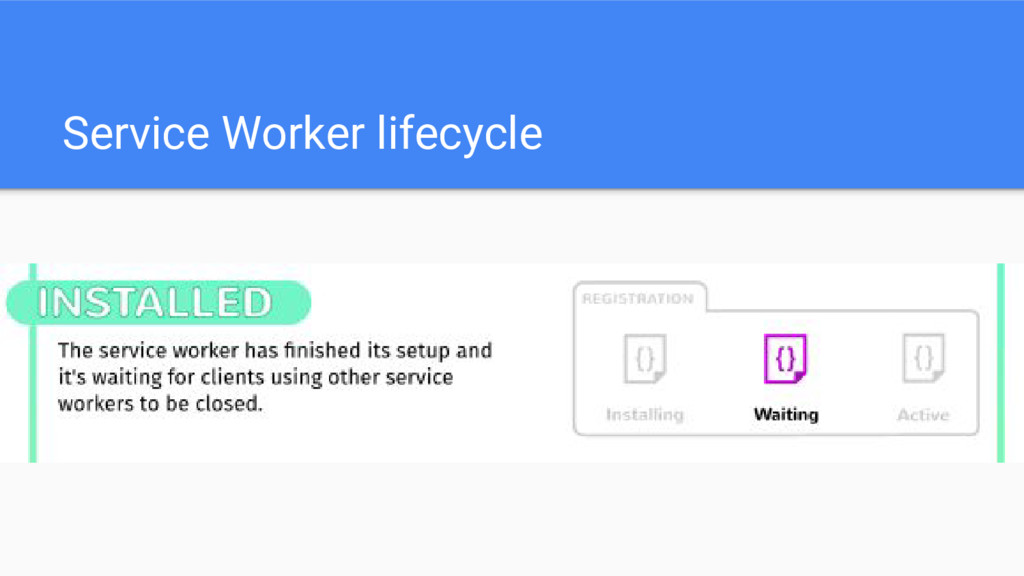 Service Worker lifecycle