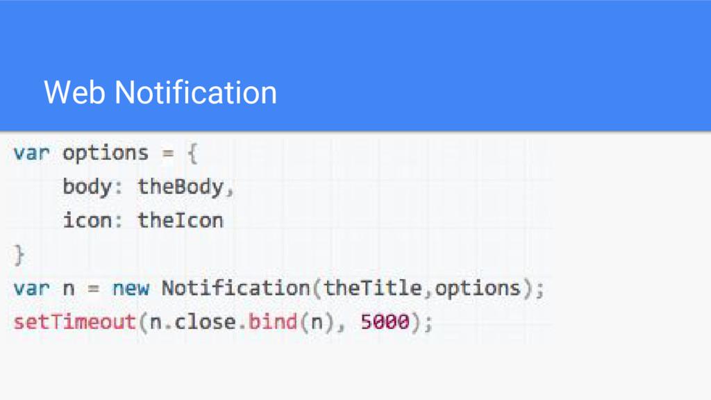 Web Notification