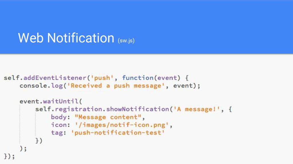 Web Notification (sw.js)