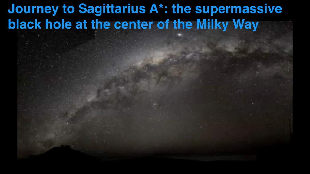 Journey to Sagittarius A*: the supermassive bla...