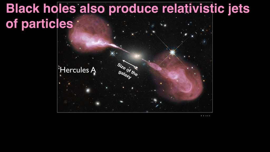 Hercules A Black holes also produce relativisti...