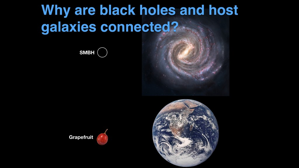 Why are black holes and host galaxies connected...