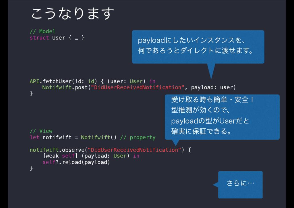 ͜͏ͳΓ·͢ // Model struct User { … } API.fetchUser...