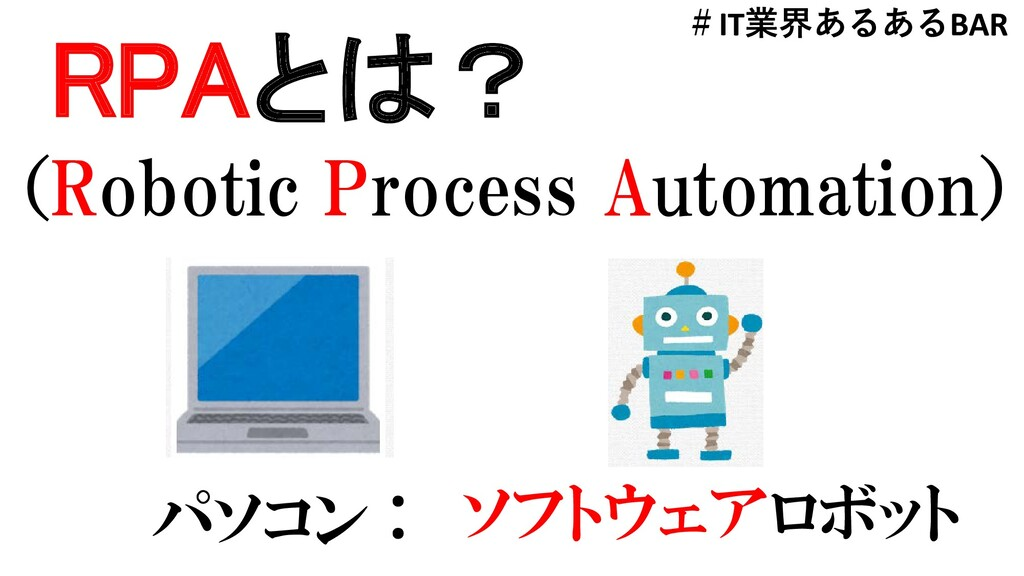 RPAとは? (Robotic Process Automation) パソコン : ソフトウ...