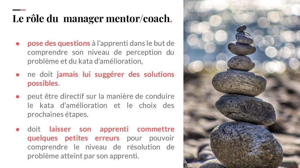 IPPON 2019 Le rôle du manager mentor/coach. ● p...