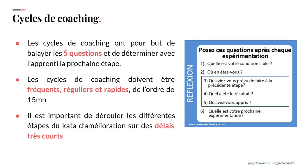 IPPON 2019 Cycles de coaching. ● Les cycles de ...