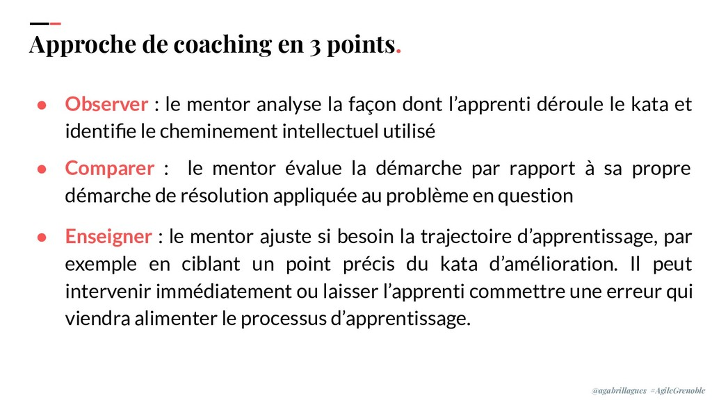 IPPON 2019 Approche de coaching en 3 points. ● ...