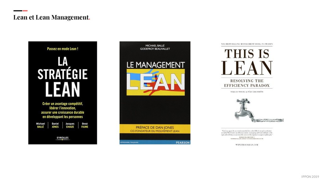 IPPON 2019 Lean et Lean Management.