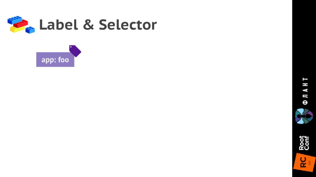 Label & Selector app: foo