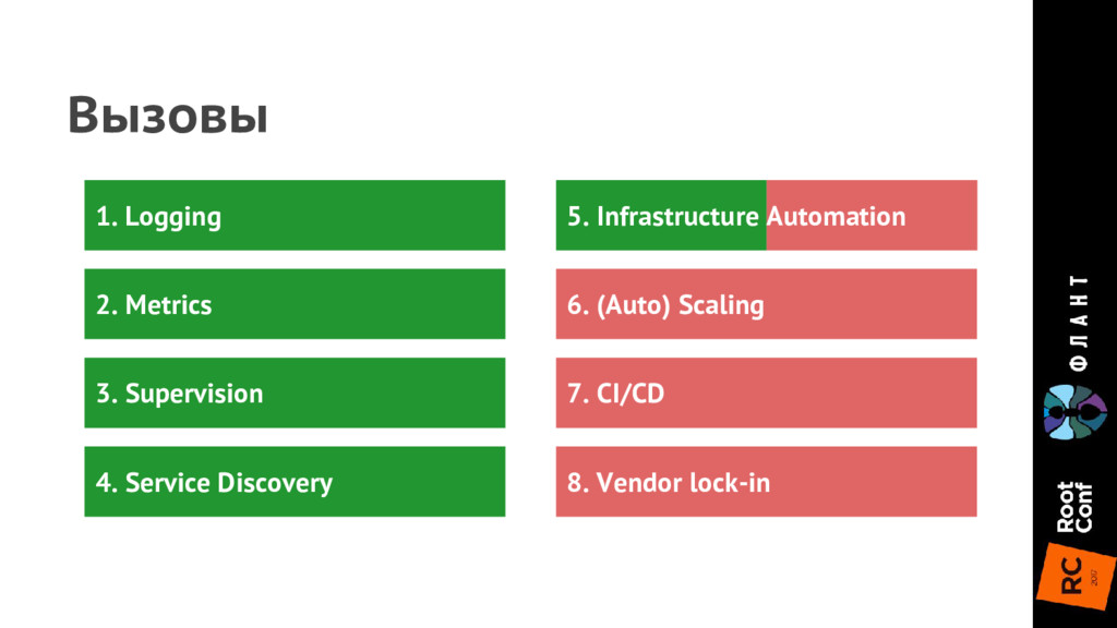 6. (Auto) Scaling 7. CI/CD 8. Vendor lock-in Вы...